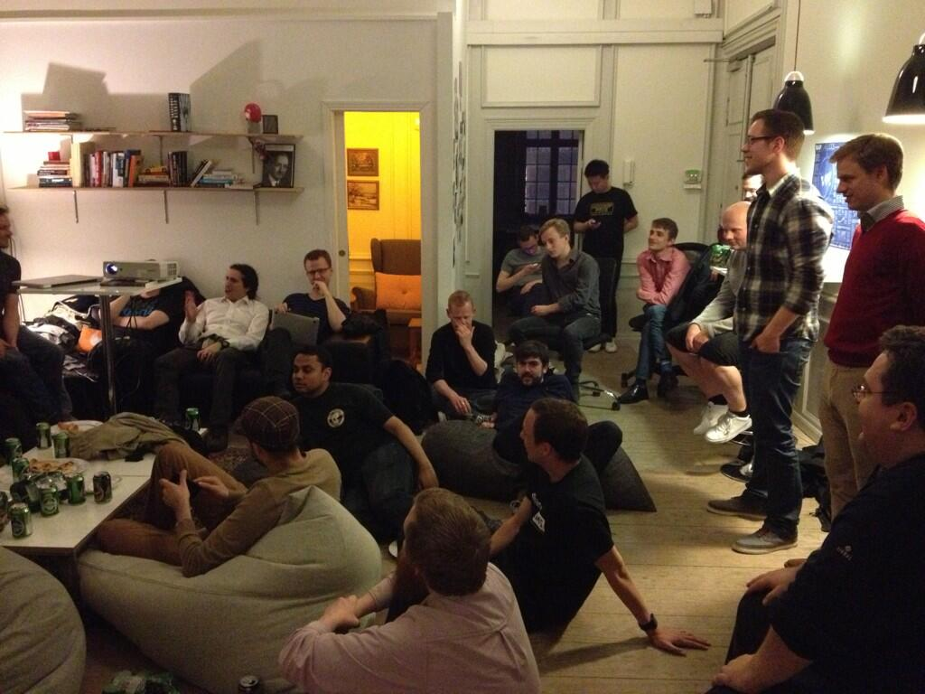 A picture from the first DjangoCPH meetup