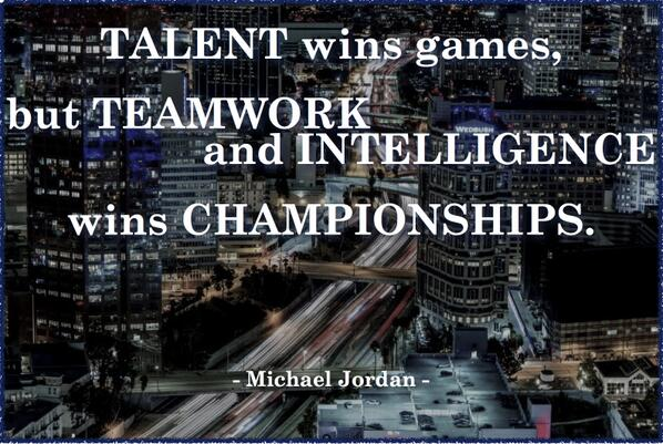 Paul Morris On Twitter Talent Wins Games But Teamwork And