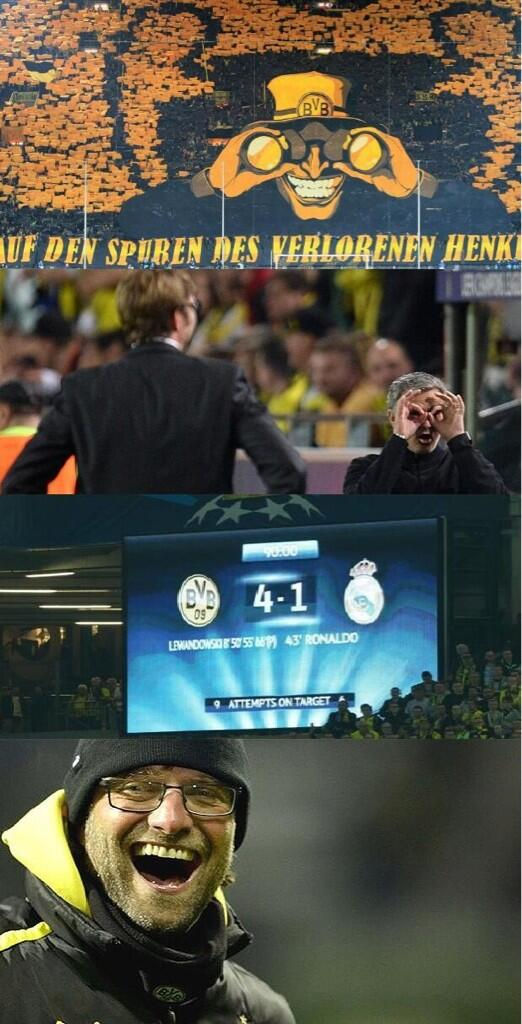 Mourinho & Ronaldo the butt of the jokes after Real Madrids Dortmund hammering [Memes]