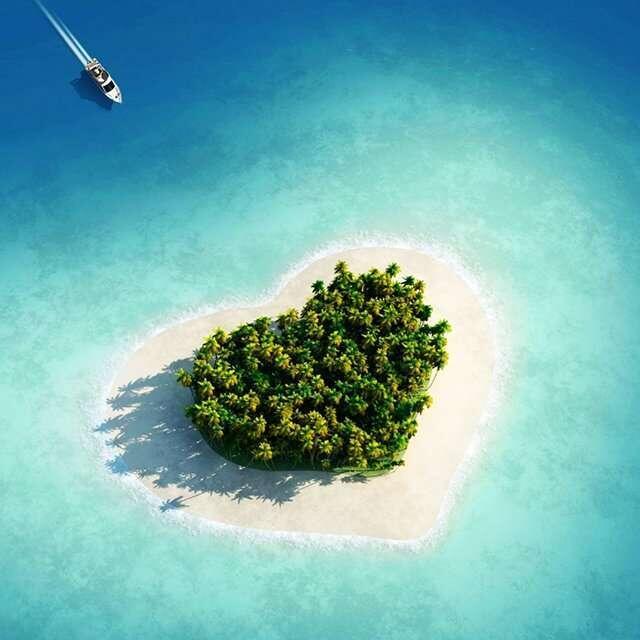 Há uma pequena ilha em forma de coração em Fiji. http://t.co/Z6YpE86hAM