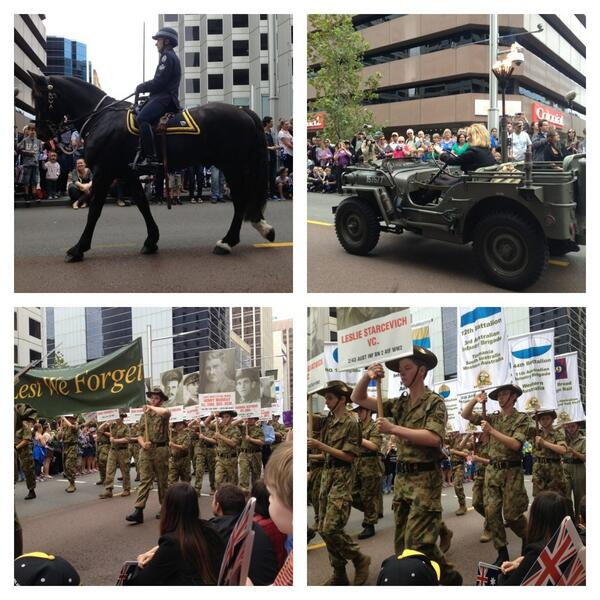 Lest We Forget. Perth Anzac Day Parade #abcanzac http://pic.twitter.com/06Kq2FPwGL