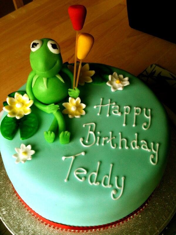 Amazing Fab Cakes On Twitter Kermit The Frog Birthday Cake For My Nephew Funny Birthday Cards Online Sheoxdamsfinfo