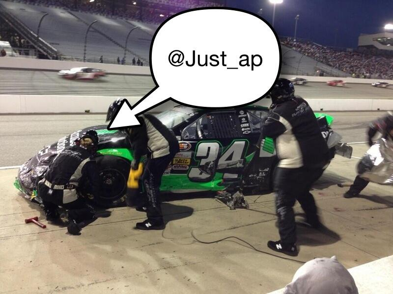 Now I'm not the smartest guy I know... But that does look like a female over the wall at a #NASCAR race... http://t.co/qu8ftDbWq3
