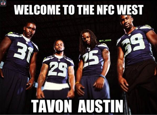 Nfl Memes On Twitter Rams Select Tavon Austin Seahawks Reaction Http T Co Brvmjk0vj8