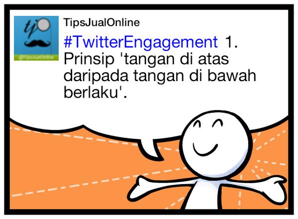 #TwitterEngagement 1. Prinsip 'tangan di atas daripada tangan di bawah berlaku'.