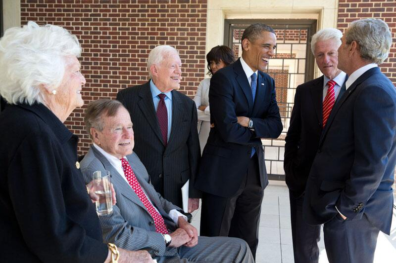 Twitter / whitehouse: Five Presidents. ...