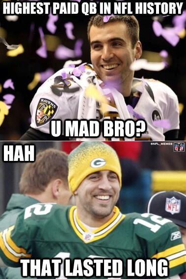 Nfl Memes Ar Twitter Aaron Rodgers Signs A 5 Years 110m Extension With The Packers Http T Co 5femodmnlp