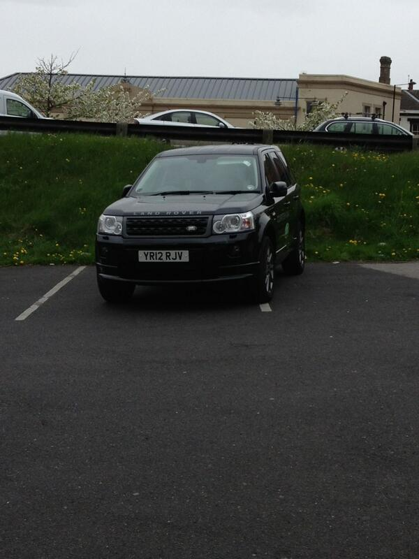 YR12 RJV displaying Inconsiderate Parking