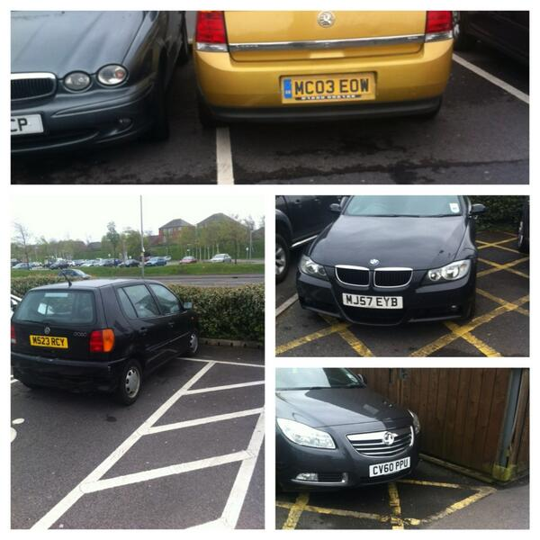 MC03 EOW, M523 RCY, MJ57 EYB, CV60 PPU is an Inconsiderate Parker