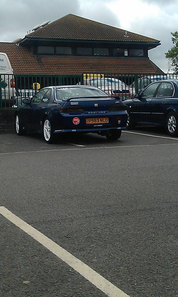P983 NLO displaying Selfish Parking