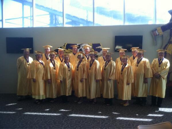 The class of 1963 Golden Alumni! #ECU2013 #ecugrad2013 #piratealumni pic.twitter.com/mQebp7C0Js