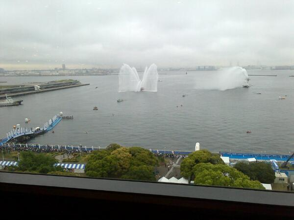 My view of the women's swim over breakfast #WTSYokohama pic.twitter.com/25RyINxl32