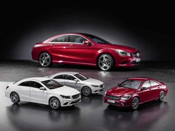 Now also as model car: The new Mercedes-Benz CLA-Class - Success model for collectors --> http://t.co/gjQwPgGxXF http://t.co/0R2OP71ahH