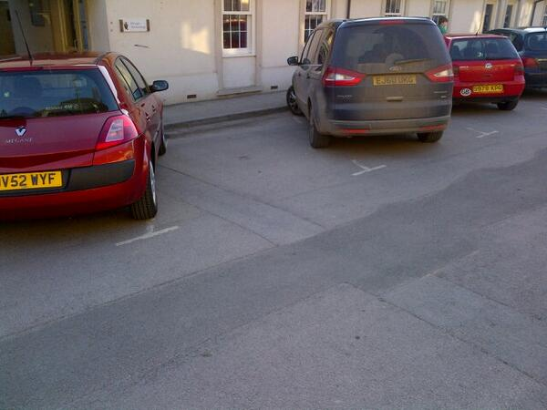 EJ60 UKG displaying Selfish Parking