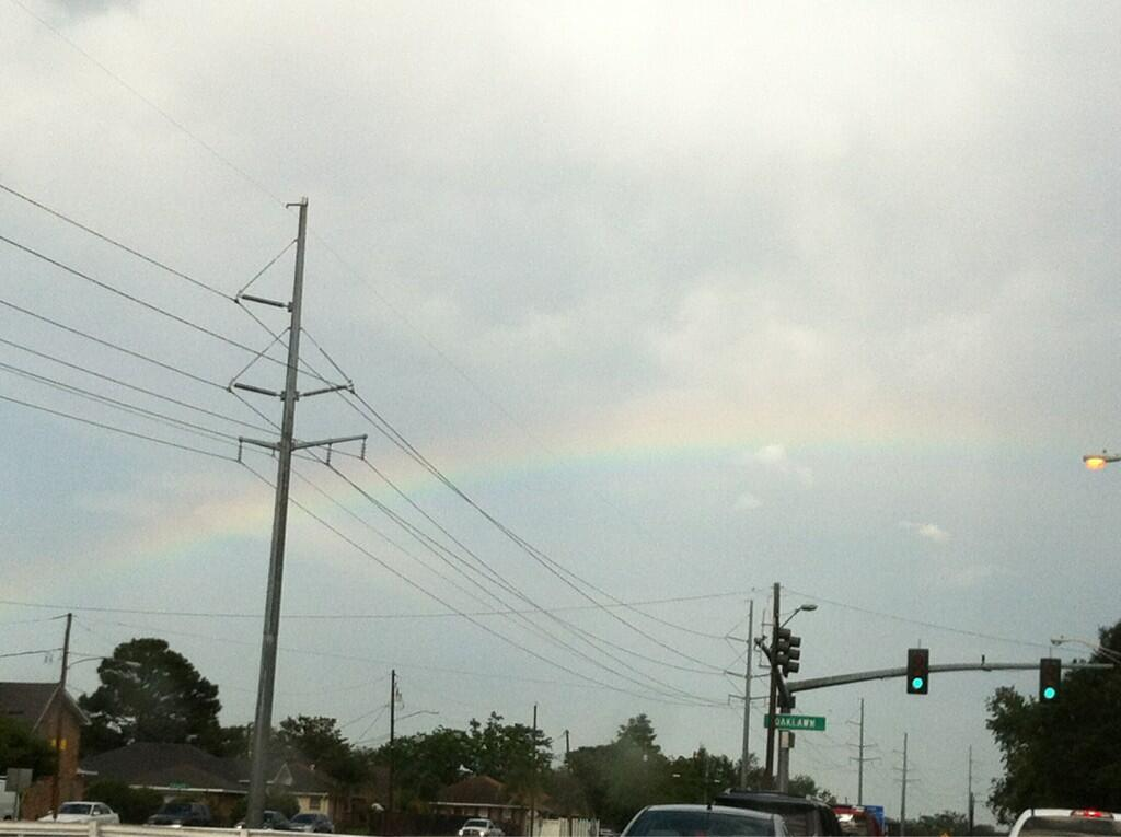Twitter / Laura_Buchtel: Rainbow over Metairie after ...