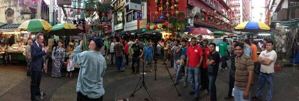 Newsline in amongst it in KL - pic by @jbaylisssmith pic.twitter.com/Tba8MphQKT