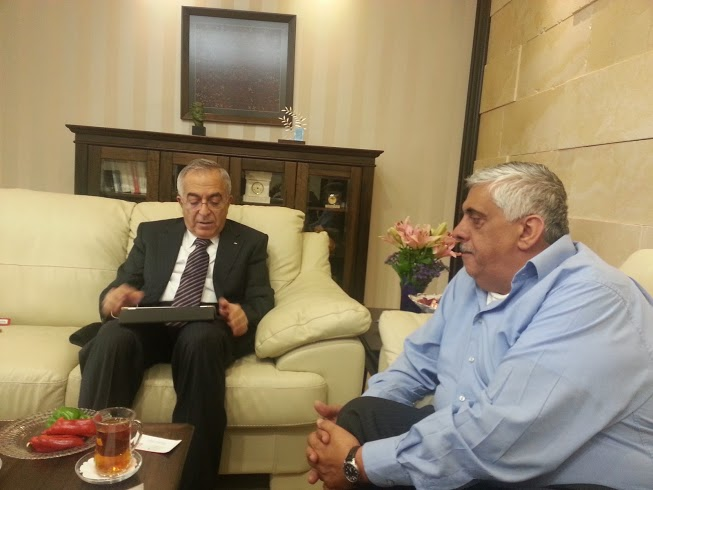 @DaoudKuttab 30 Apr with @SalamFayyad_pm at the office of the Prime Minister in Ramallah, Palestine