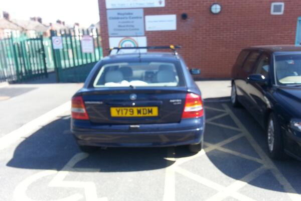 Y179 WDM displaying Selfish Parking