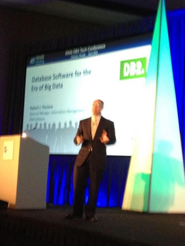 Database Software for the Era of #BigData #BobPicciano General Manager #IBM #IDUG #Idugna pic.twitter.com/3qfXQfOekS