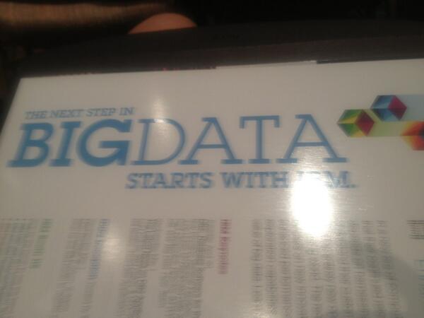 #bigdata starts with #ibm #idug #IDUGNA pic.twitter.com/S5ECXBjMSh