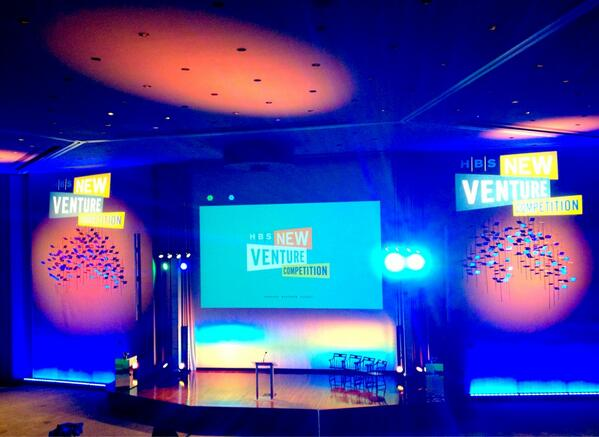 The stage is set! Doors for the New Venture Competition are open in 45 minutes! #HBSNVC pic.twitter.com/kni2g3o1tm