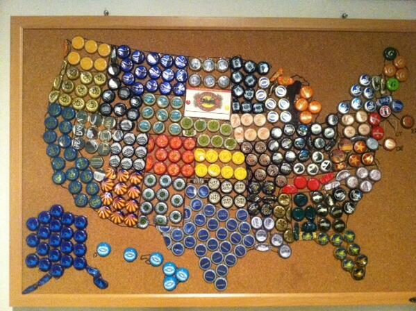 All About Beer Mag On Twitter Cool Map Of The U S In Craftbeer Bottle Caps Mt Atksaunders2 Atallaboutbeer I Finally Finished My Us Beer Map