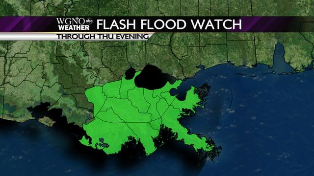 Twitter / WGNOtv: Flash Flood Watch in effect ...