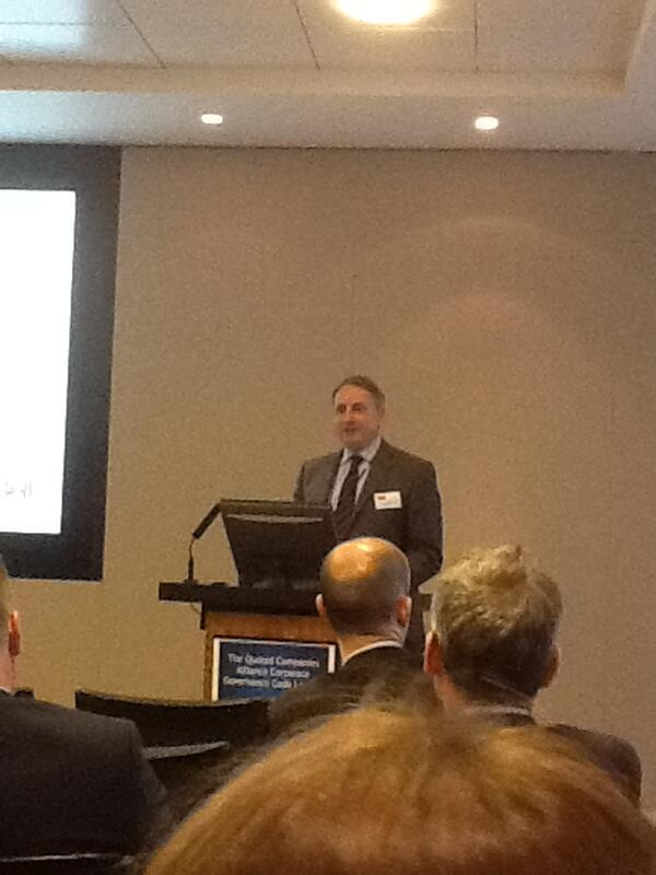 Thumbnail for Stephen Haddrill speaks at launch of new QCA Corporate Governance Code for SMEs