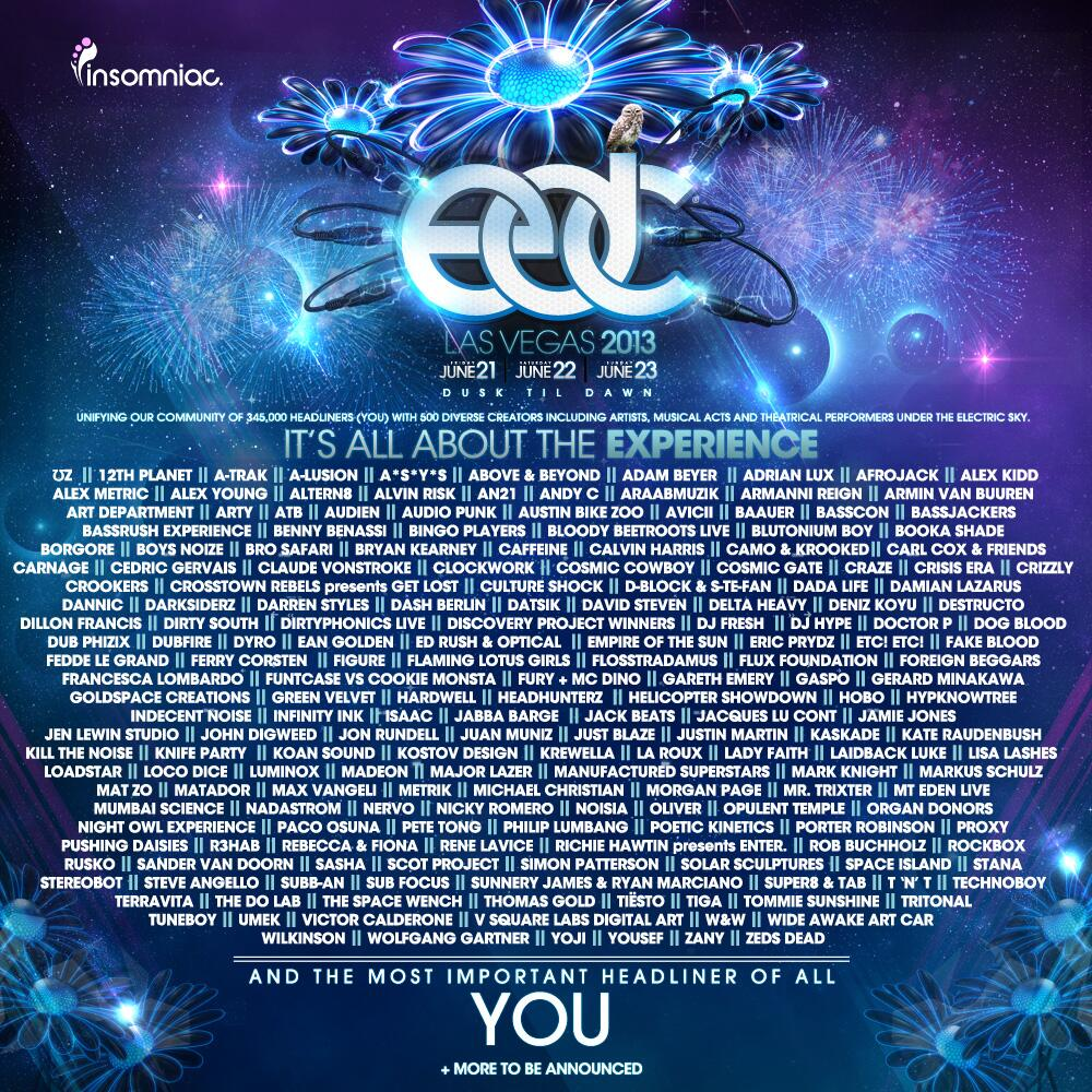 Electric Daisy Carnival Las Vegas EDC 2013 | Lineup | Video | Live Sets | Tickets | Dates | Rumors | Mobile App