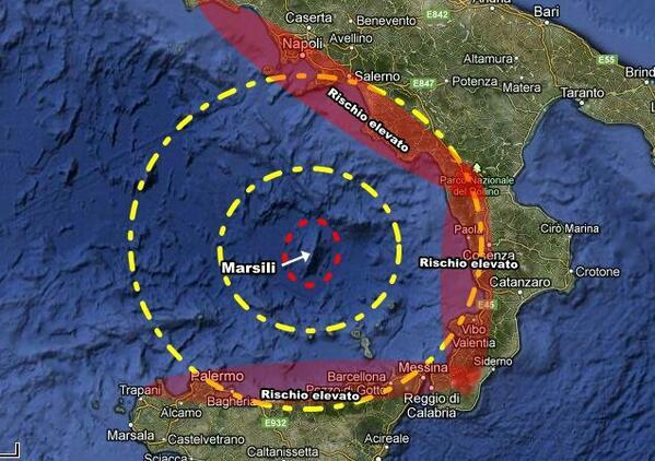 I rischi che corrono Campania Calabria e Sicilia con un possibile tsunami provocato dal Marsili.