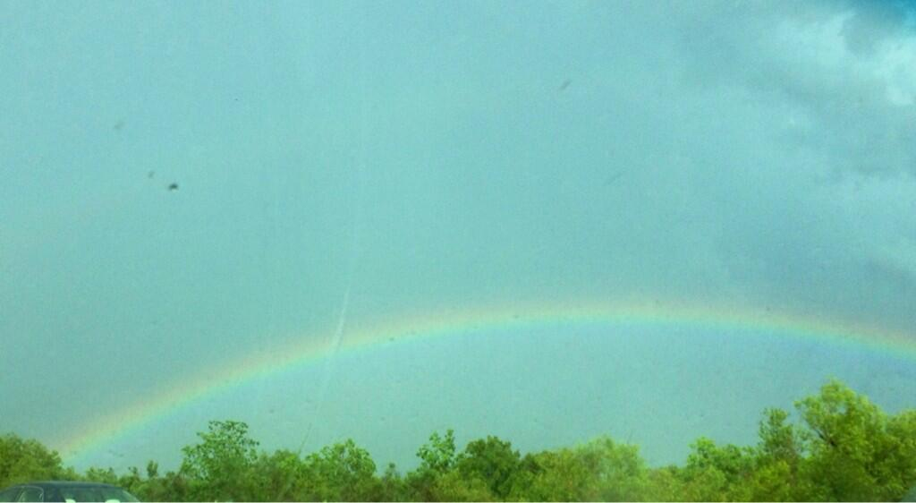 Twitter / Courtney475: @MargaretOrr Rainbow out near ...