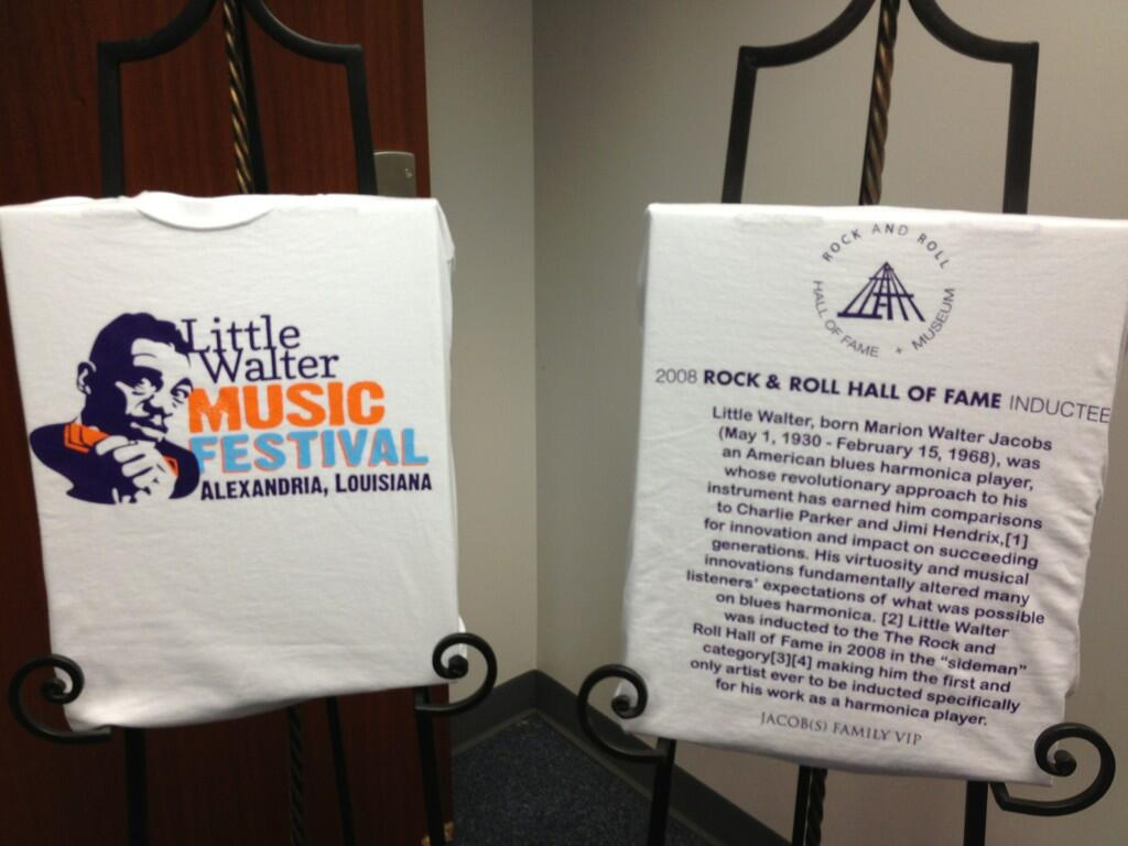 Twitter / theheartofla: Little Walter Festival T-shirts ...