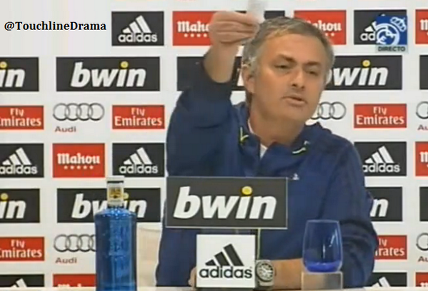 Mourinho has facts on a crib sheet, slates Real Madrids 21 years, 18 coaches & 5 semis