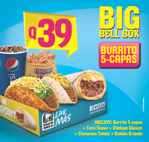 Taco Bell Guatemala on Twitter  Miren la nueva Big Bell Box !! //t.co/NJ0oqbtvRw   sc 1 st  Twitter : taco bell big boxes - Aboutintivar.Com