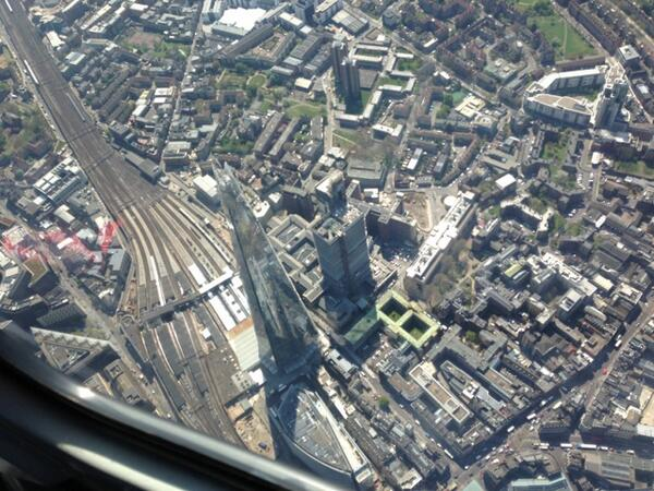 I bet you've never seen @TheShardLondon from this angle before! @lbc973 Photos on the website http://t.co/NoKm0tWSlx http://t.co/jX9q7GXVwt