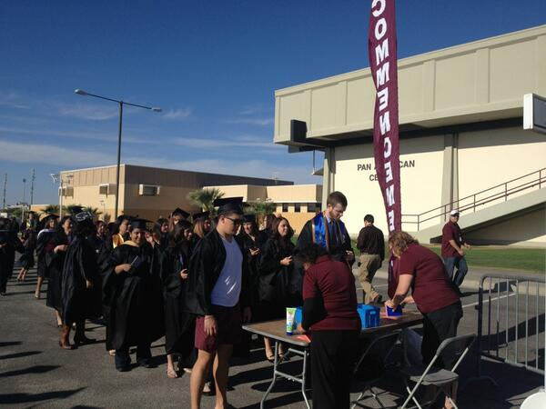 Preparations for the morning ceremony are on full swing #nmsugrad pic.twitter.com/Fxcz8F3wou