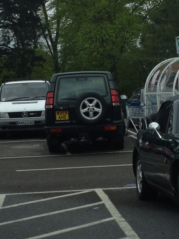 WN59 AHD displaying Selfish Parking