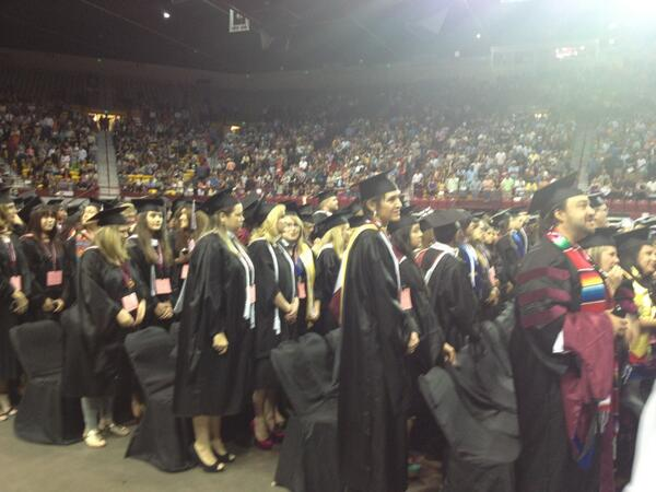 View from the floor #nmsu #nmsugrad #commencement pic.twitter.com/4epvSAvtmt