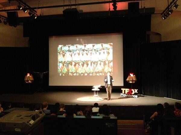 On the prosciutto curing rooms - It's a magical place... Like an Escher diagram. - Davide Dukcevich #TEDxPVD pic.twitter.com/2FltPAwsQs