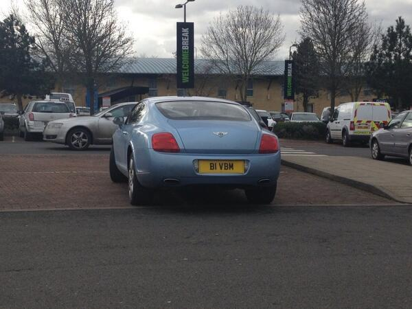 B1 VBM displaying Inconsiderate Parking