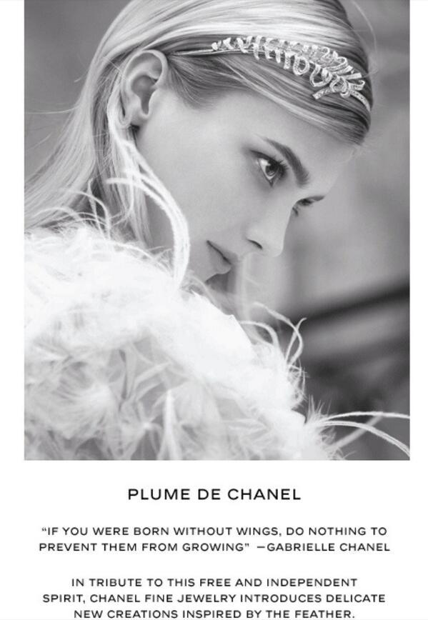 """I love the """"Plume De Chanel"""" fine jewelry collection #chanel #finejewelry #plumedechanel #feathers #wings #beauty http://t.co/B7A6vp7vP2"""