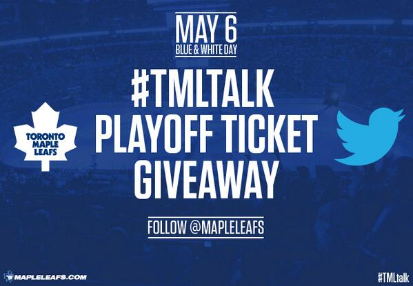 Toronto maple leafs twitter contest giveaways