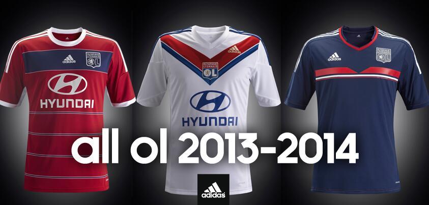 Maillots Olympique Lyonnais 2013 2014 Adidas