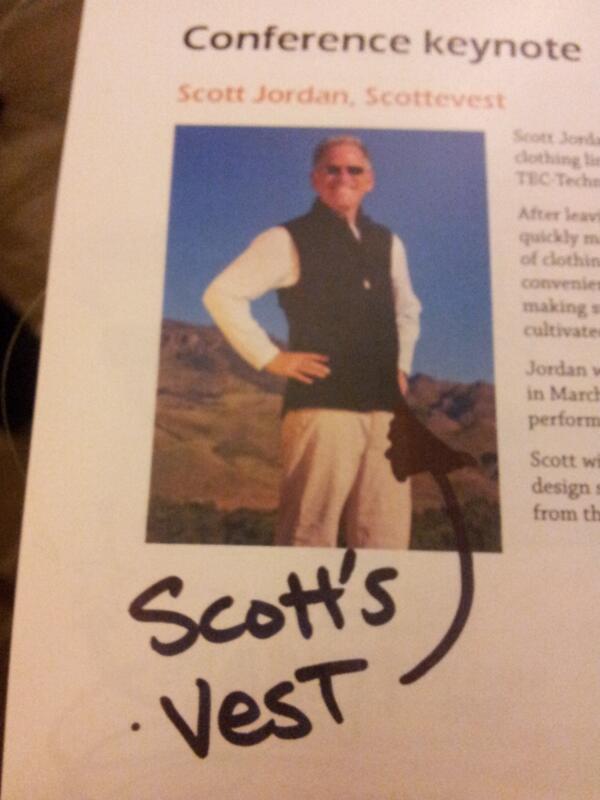 Scott's Vest. #cx13 pic.twitter.com/koXBMq0rqH
