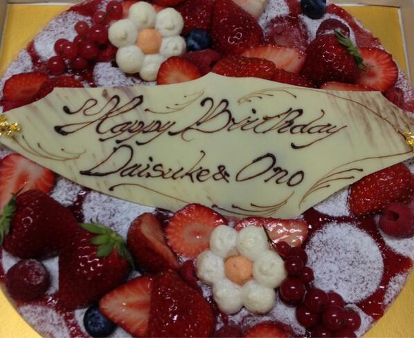 """MSWL昼の部で皆様にお祝い頂いたケーキ!マリンさんが特別にご用意して下さったらしいです。(名前との間の""""&""""の等、細かい所には触れません!) 有難うございましたm(_ _)m http://t.co/9XuU7ZZR4A"""