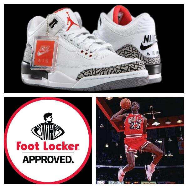 air jordan 3 retro foot locker