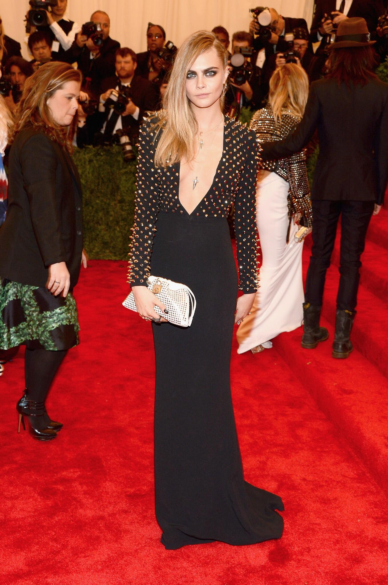 Cara Delevingne in Burberry at the 2013 Met Gala
