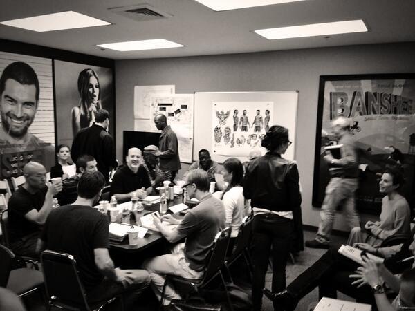 Table read for #Banshee eps 3/4 pic.twitter.com/1smyRGl0mm
