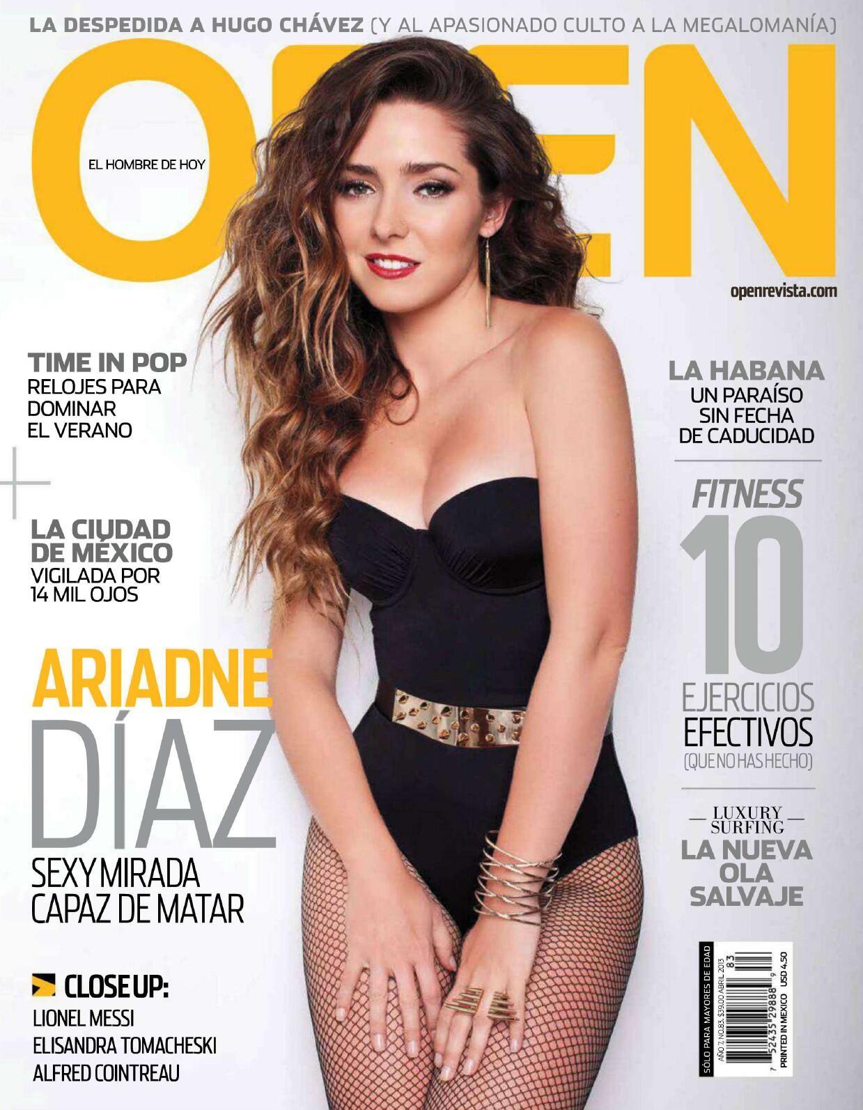 su gran sensualidad en la portada de la revista open