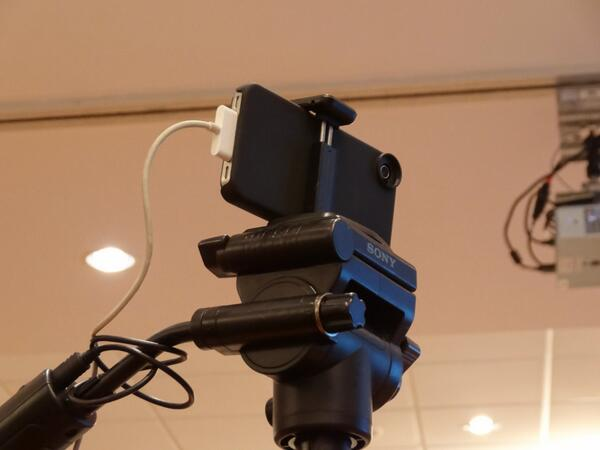 Iphone on tripod at #STRONG2013 conference. pic.twitter.com/VQnzvqU77D